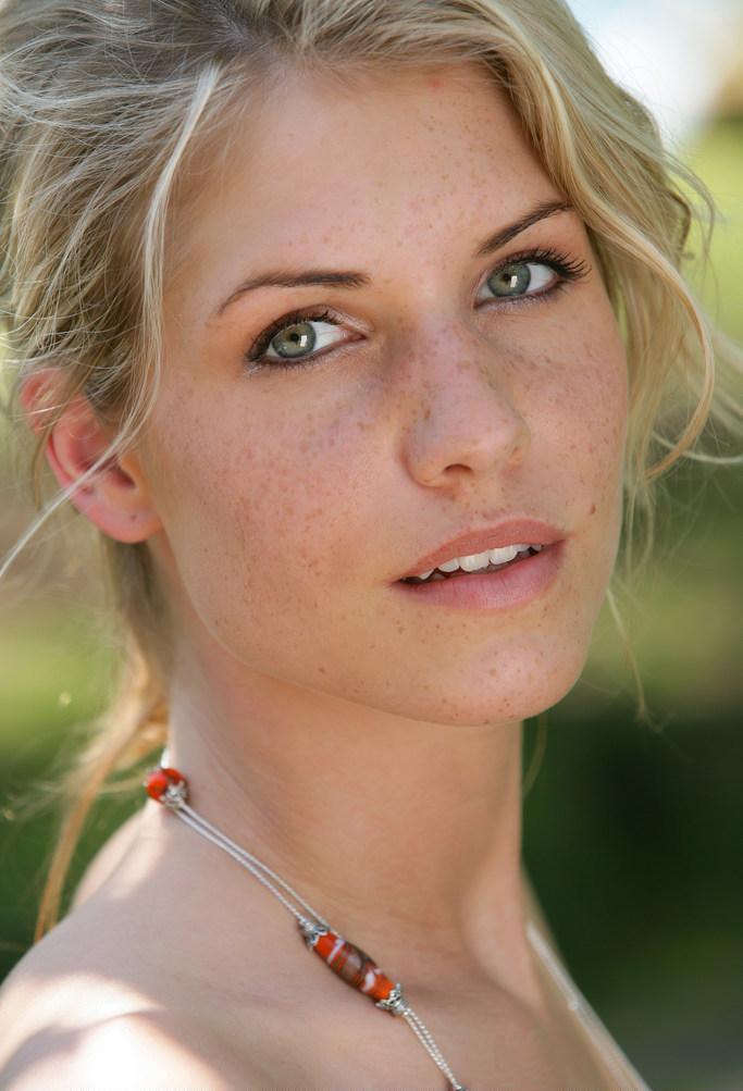Iveta B - Flirty good looking blonde Iveta B strips nude